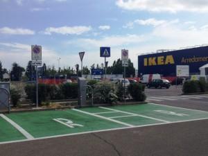 Parcheggio riservato - veicoli elettrici