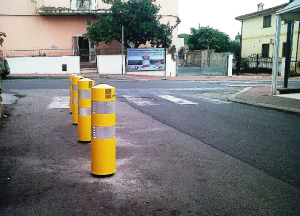 City of Budoni (Sardinia) supply of vertical road sign and flexible beacon