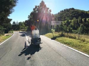 Comune di Monte San Pietro (BO) - Esecuzione di segnaletica orizzontale frazione di Calderino.