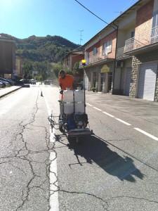 Comune di Monte San Pietro (BO) - Esecuzione di segnaletica orizzontale.