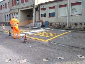 Comune di Giba (Carbonia-Iglesias) - esecuzione di segnaletica orizzontale e fornitura di segnaletica verticale.