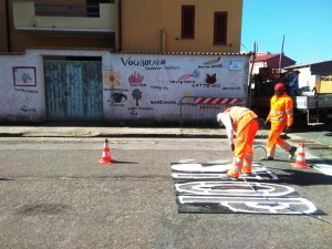 City of San Sperate - road marking